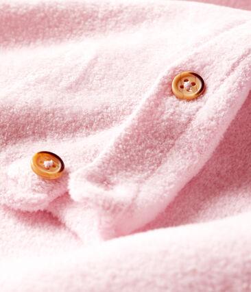 Conjunto de dos piezas para bebé niño, lana merinos y poliéster rosa Fleur