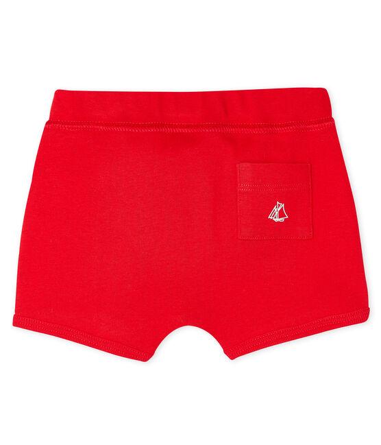 Pantalón corto liso para bebé unisex rojo Peps