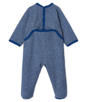 Pijama extra cálido de toalla de rizo afelpado para bebé niña azul Major / gris Subway