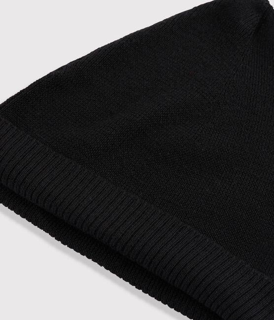 Gorro de lana de mujer negro Noir
