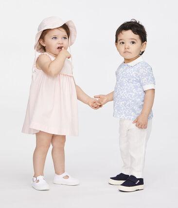 Pantalón de lino para bebé niño blanco Marshmallow