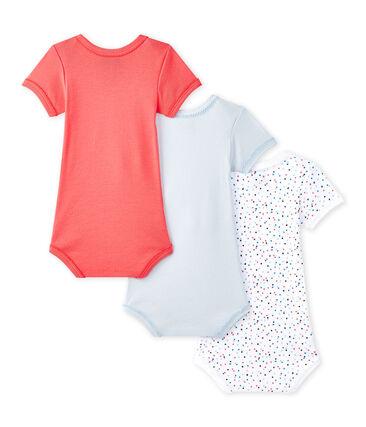 Lote de 3 bodies de manga corta para bebé niña