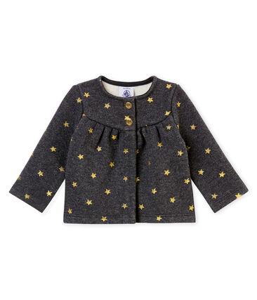 Cárdigan para bebé niña con estrellas estampadas