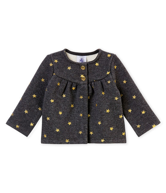 Cárdigan para bebé niña con estrellas estampadas negro City / amarillo Dore