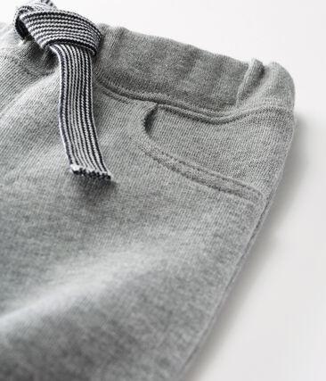Pantalón de muletón cálido para bebé niño gris Subway