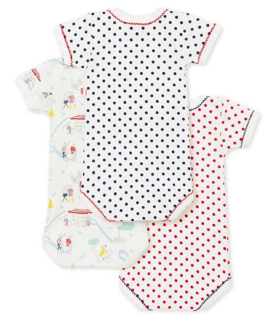 Trio de bodis de manga corta para bebé niña lote .
