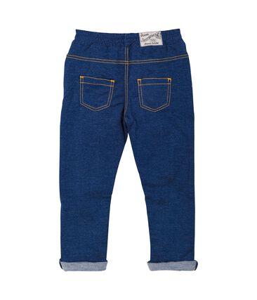 Pantalón de tela vaquera para bebé unisex azul Medieval / beige Ecru Cn