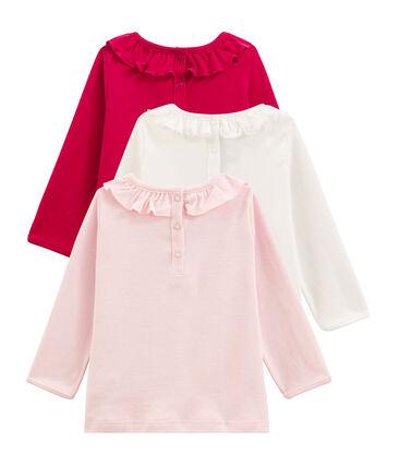Lote sorpresa de 3 camisetas de manga larga para bebé niña lote .