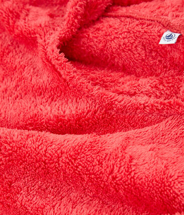 Poncho de playa para bebé unisex rosa Groseiller