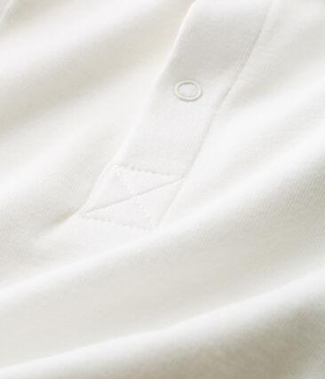 Body manga corta cuello polo liso para bebé niño blanco Marshmallow Cn