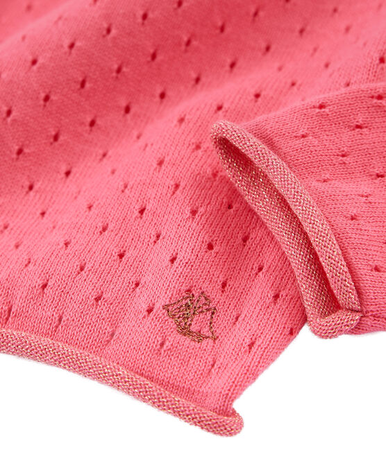 Cárdigan infantil para niña rosa Cupcake