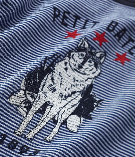 Pijama de lobo para niño azul Surf / azul Major