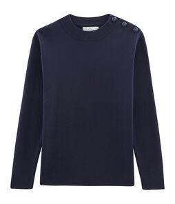 Jersey azul marino para hombre liso