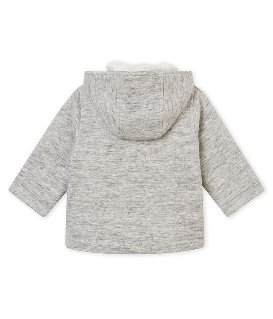Chaquetón para bebé niño en muletón gris Gris