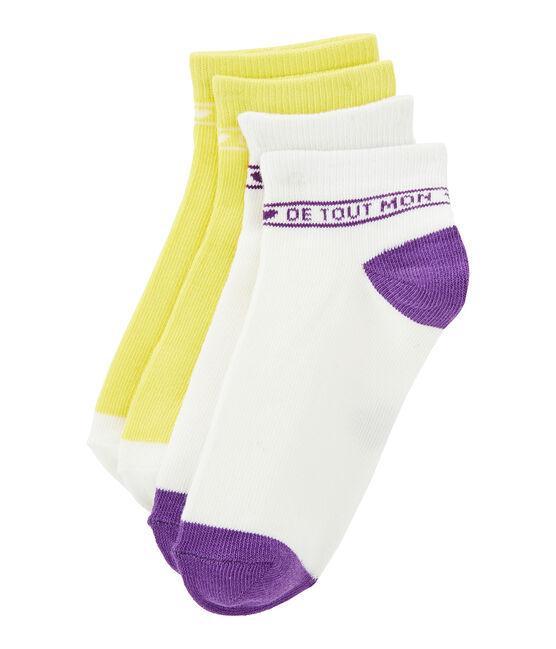 Lote de 2 pares de calcetines niña lote .