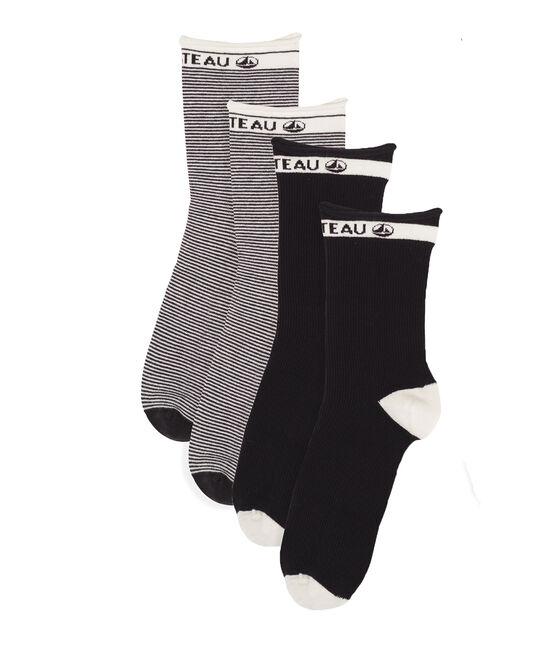Lote de 2 pares de calcetines mujer. SMOKING