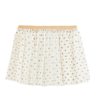 Falda de niña blanco Marshmallow / amarillo Or