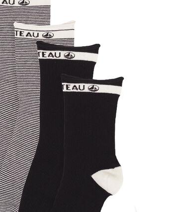 Juego de calcetines a media caña de mujer lote .