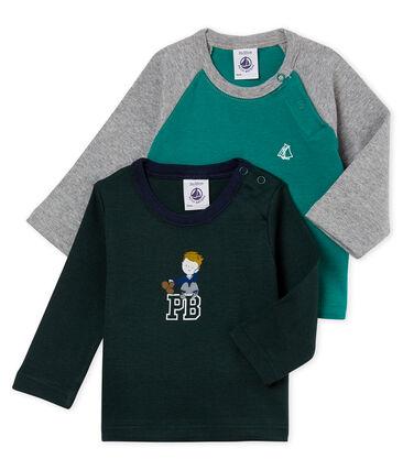 Lote de 2 camisetas para bebé nño