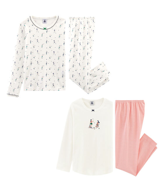 Lote de 2 pijama para niña pequeña lote .
