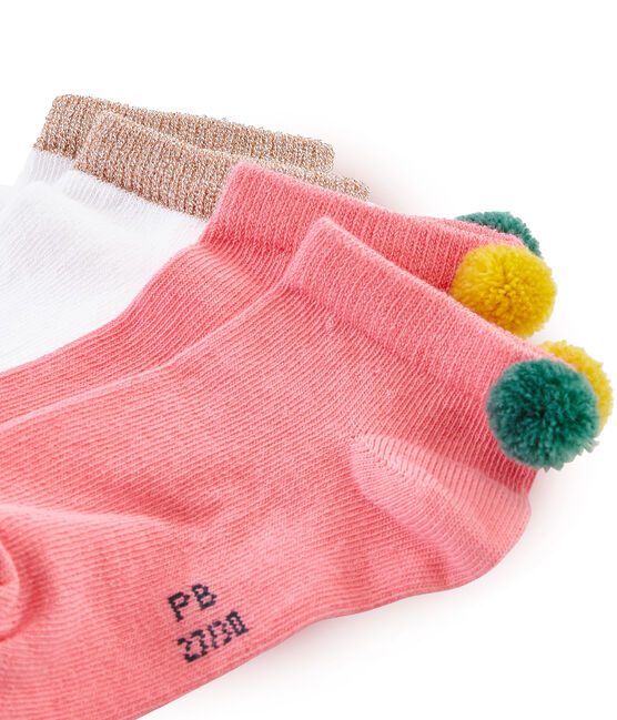 Lote de 2 pares de calcetines infantiles para niña lote .
