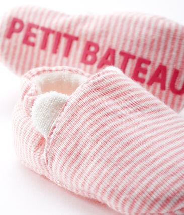 Patucos para bebé niña de punto