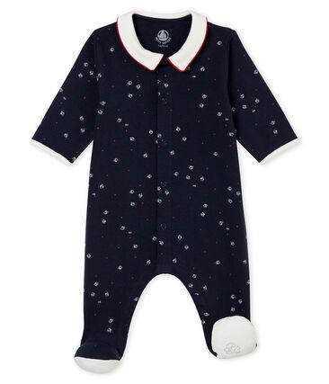 Pijama para bebé niño en punto 1x1 afelpado estampado