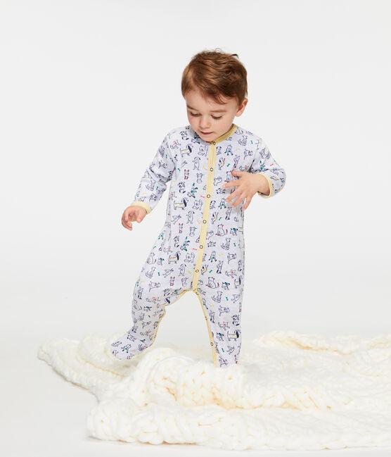Pijama de punto para bebé niño gris Poussiere / blanco Multico