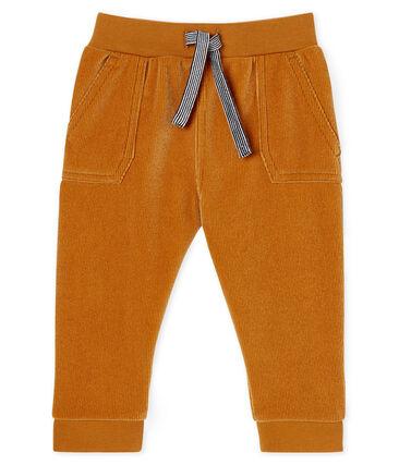 Pantalón de pana para bebé niño blanco Marshmallow / azul Crystal