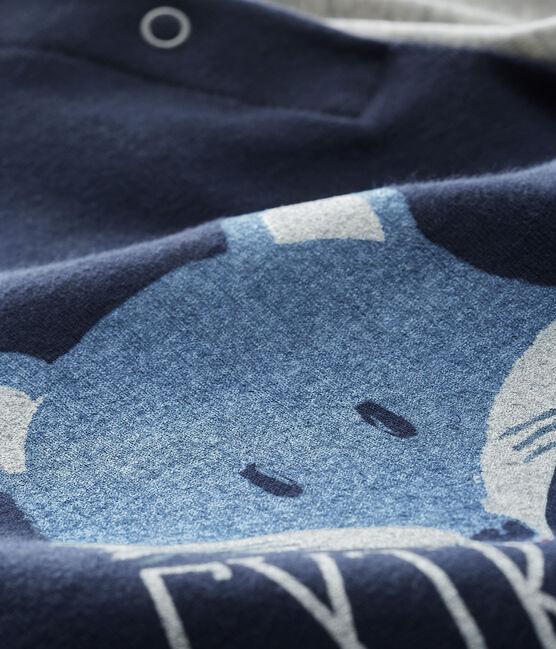 Camiseta de manga larga para bebé niño azul Smoking / gris Beluga