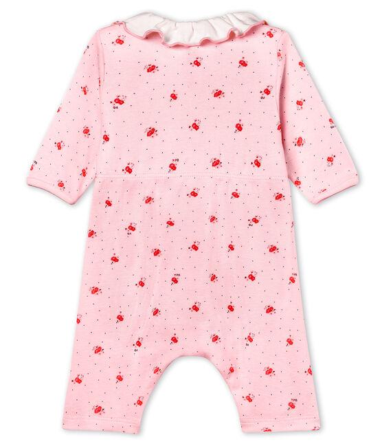 Bodyjama sin pies de punto 1x1 estampado para bebé niña rosa Vienne / blanco Multico