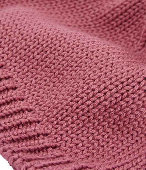 Gorrito con pompón infantil rosa Cheek