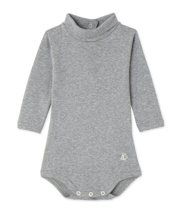 Body bebé con cuello alto gris Subway Chine