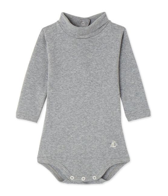 Body bebé con cuello alto gris Subway Chine