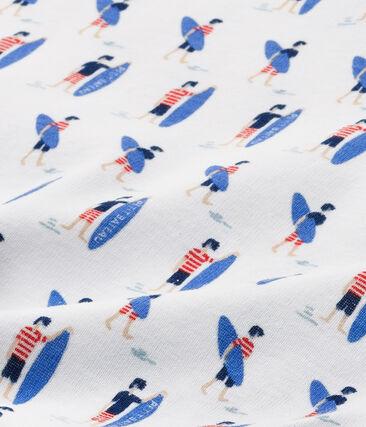 Camiseta estampada para niño blanco Ecume / azul Source