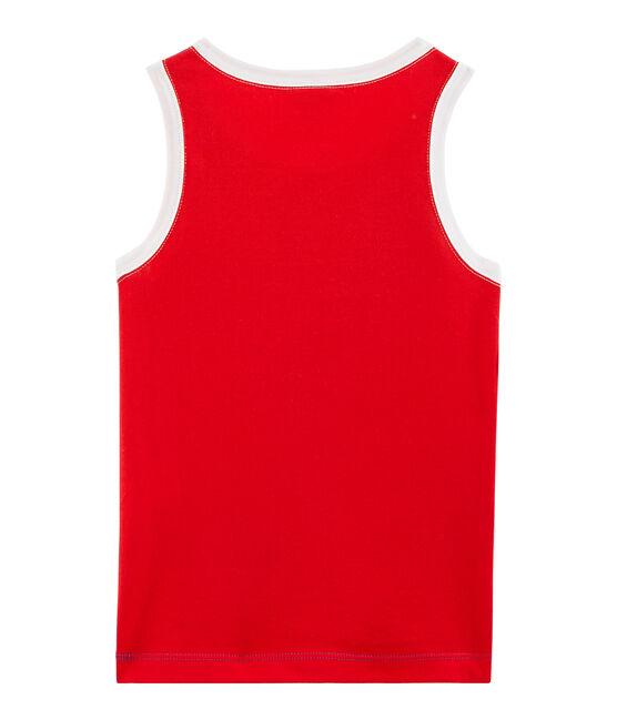 Camiseta de tirantes de niño azul Surf / rojo Peps