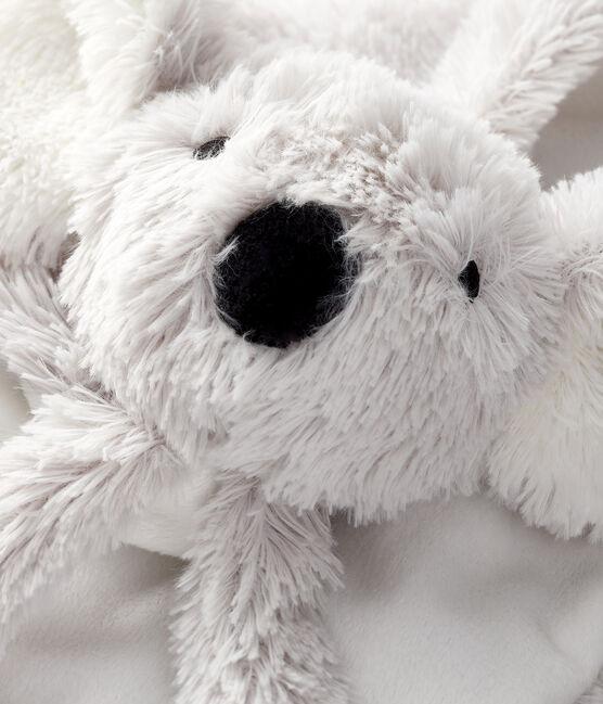 Doudou de koala de tejido acanalado para bebé blanco Marshmallow / gris Gris