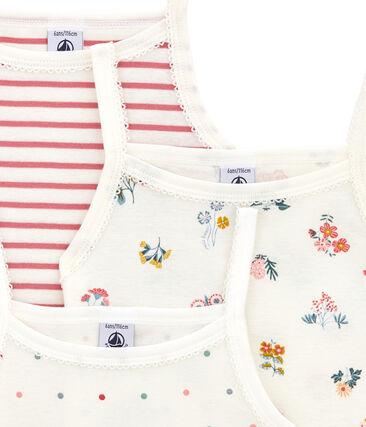 Pack de 3 camisetas de tirantes para niña