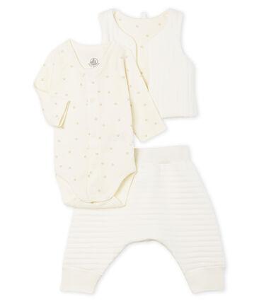 Conjunto de tres piezas para bebé niña de túbico