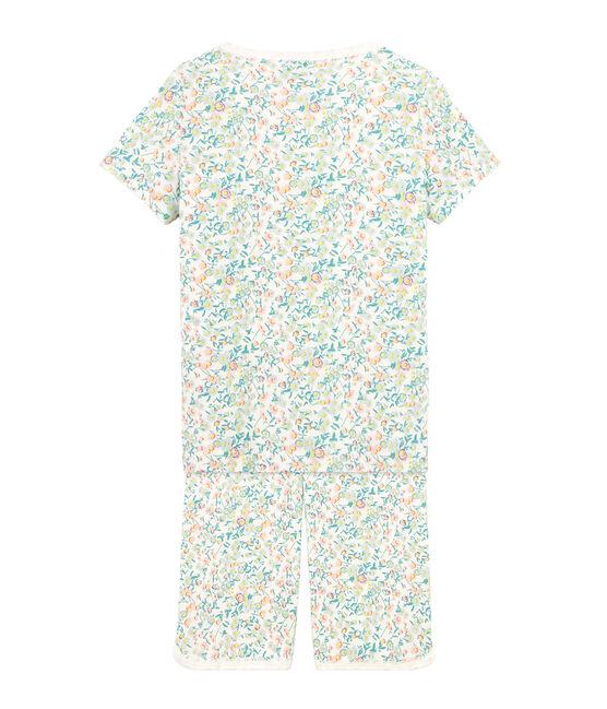 Pijama corto de punto para niña blanco Marshmallow / blanco Multico