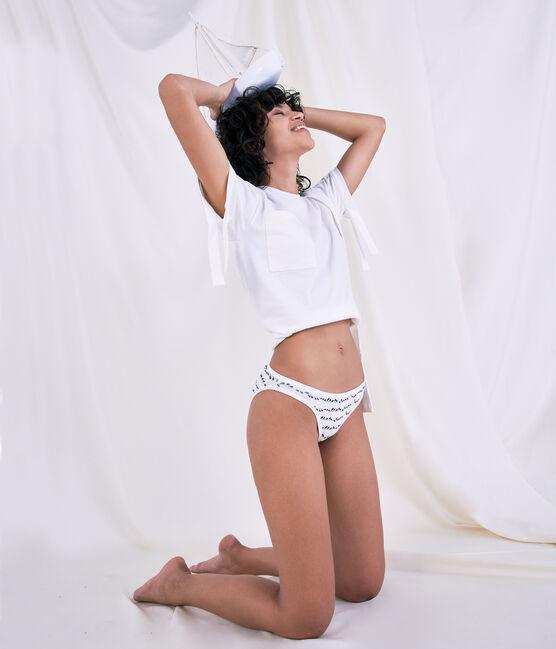 Camiseta para mujer/hombre Christoph Rumpf x Petit Bateau blanco Marshmallow