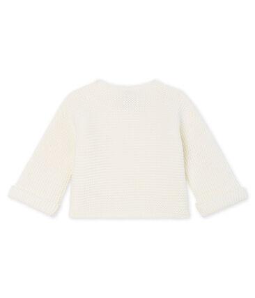 Cárdigan para bebé de punto 100 % algodón blanco Marshmallow