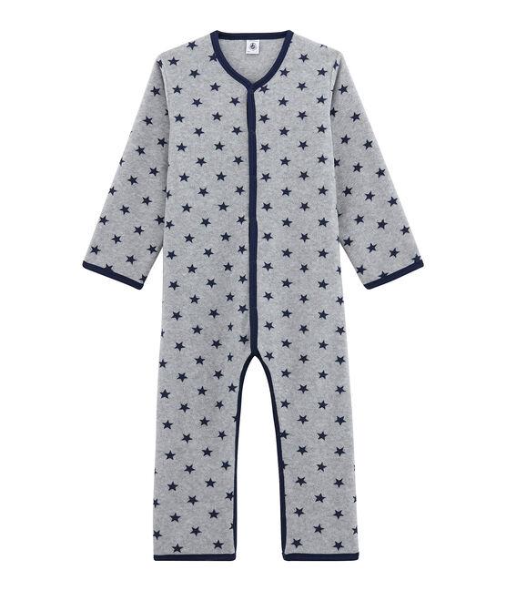 Buzo de polar para niño pequeño gris Subway / azul Logo