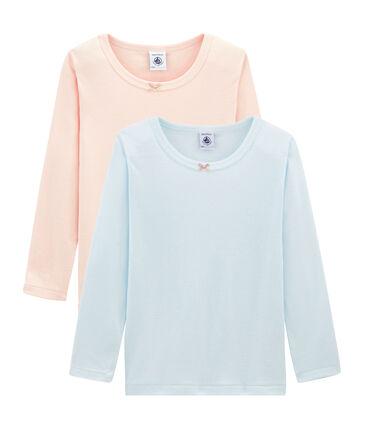 8552c94db Par de camisetas manga larga para niña