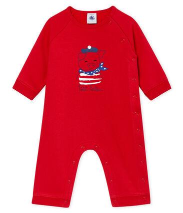 Buzo de bebé de felpa unisex rojo Terkuit