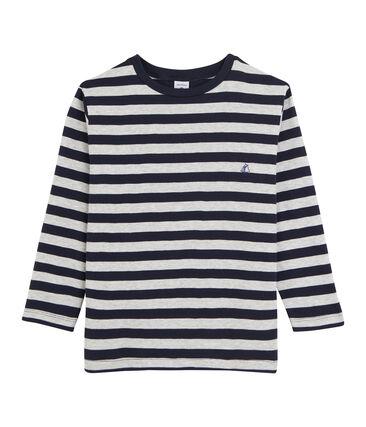 Camiseta de manga larga para niño azul Smoking / gris Beluga