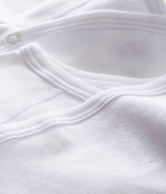 Lote de 2 bodies nacimiento blancos manga larga bebé lote .
