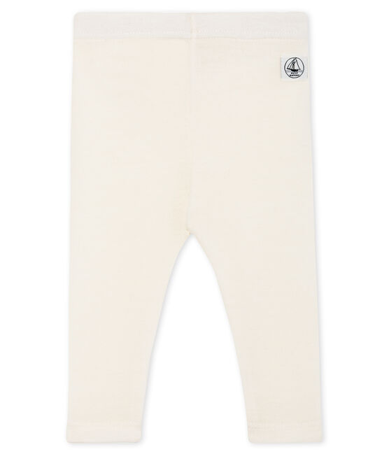 Pantalón para bebé de lana y algodón blanco Marshmallow