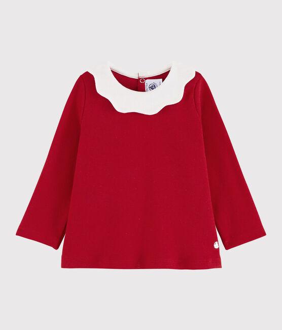 Blusa de manga larga para bebé niña rojo Terkuit