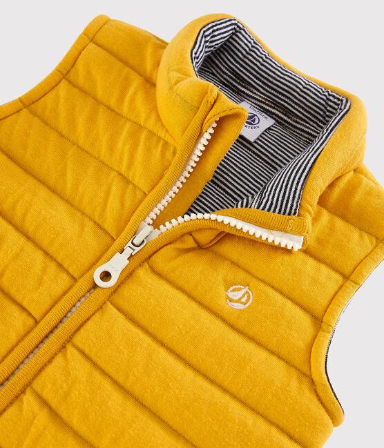Chaqueta sin mangas para bebé niño amarillo Boudor